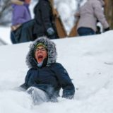 The fun side of snow: With a day off, people venture outside to enjoy the fluffy stuff (w/video)