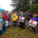 Frances Crowe, seven others,arrested protesting pipeline in Sandisfield
