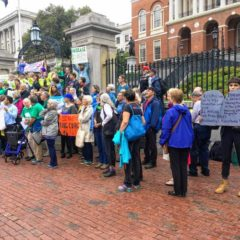 Activists rally in support of 100 percent renewable energy