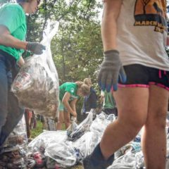 Fifth-graders help  Source to Sea Cleanup