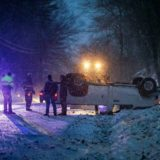 PHOTOS: Gill authorities respond to vehicle rollover