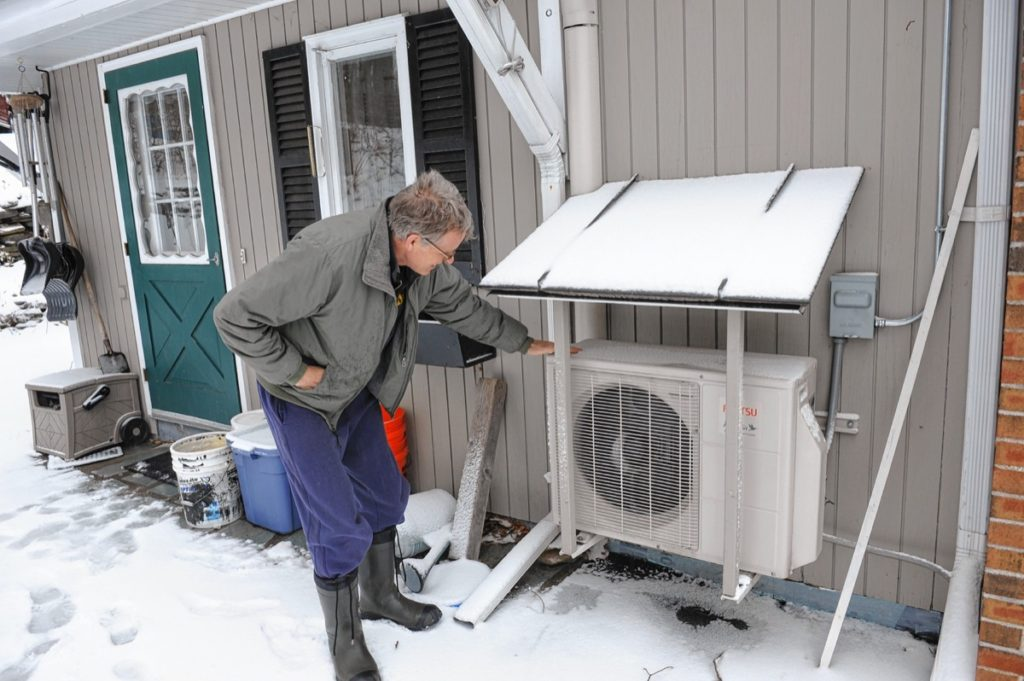 Ken Condon has mini splits for heating and cooling his home in Ashfield.   April 16, 2018