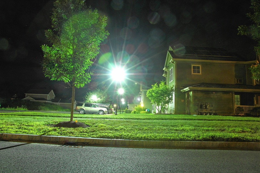 A light with a simple shield over it remains useful and also helps to maintain a healthy outdoor nighttime environment.
