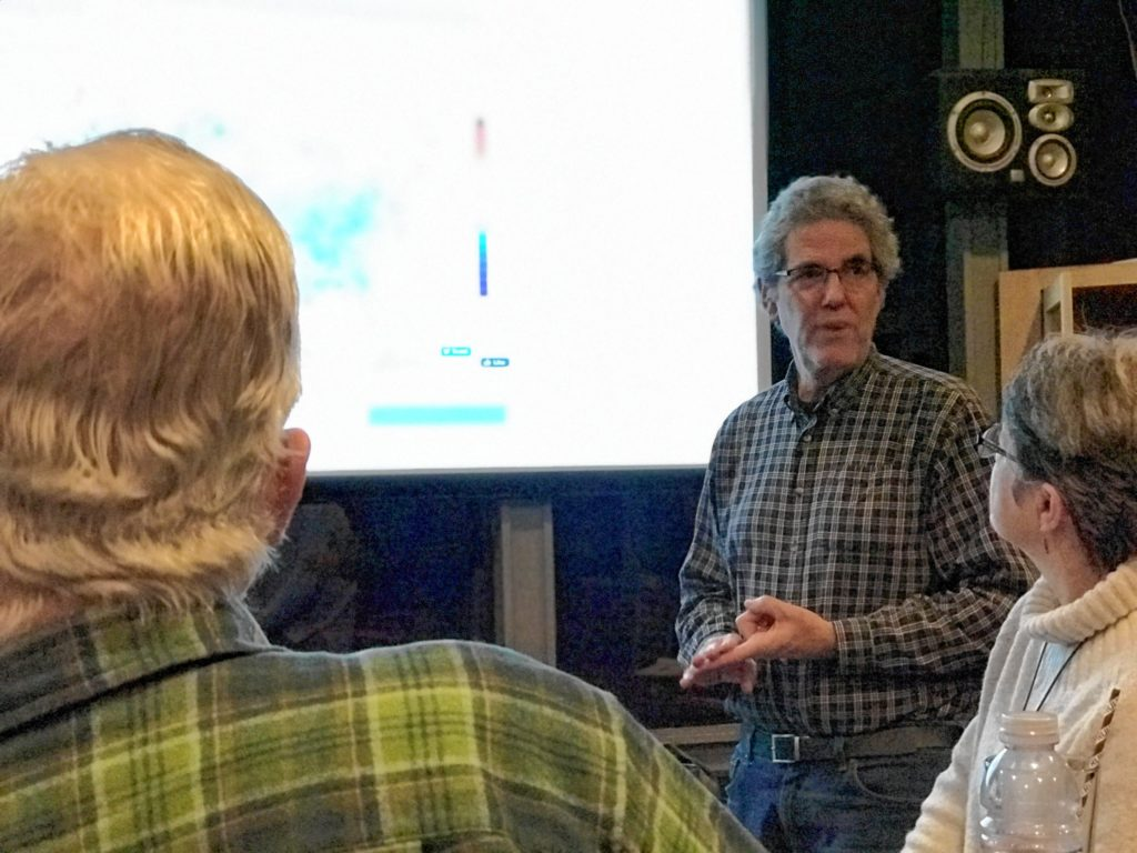 In November, Dr. Joseph Silverman, a Florence psychologist, spoke to an audience at the Western Mass. Green Consortium's free, monthly Green Night held at the Platform Sports Bar in Northampton. Silverman discussed psychological barriers that keep people from talking about climate change.