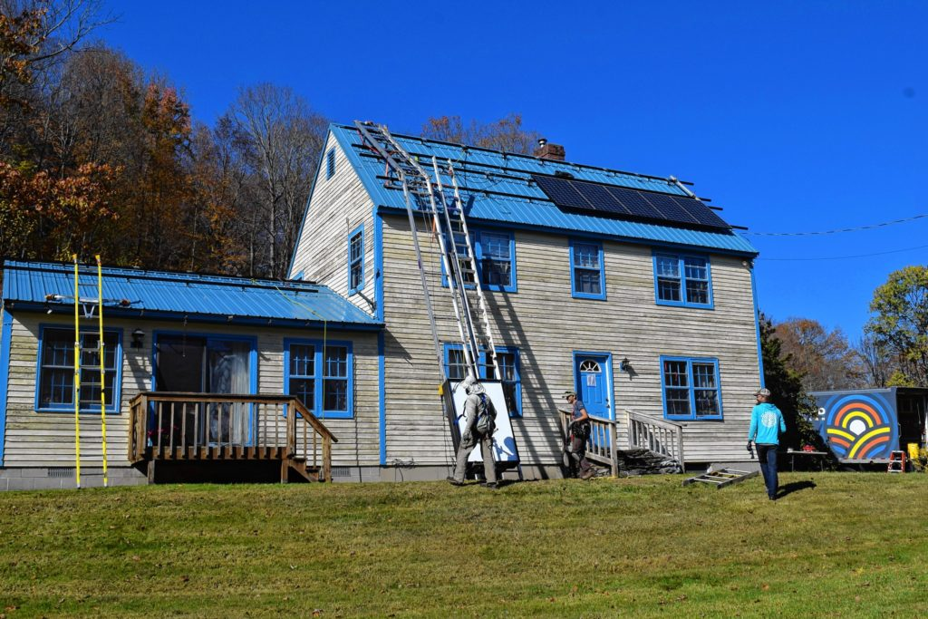 This hilltown house turned out to have plenty of sun for solar panels.