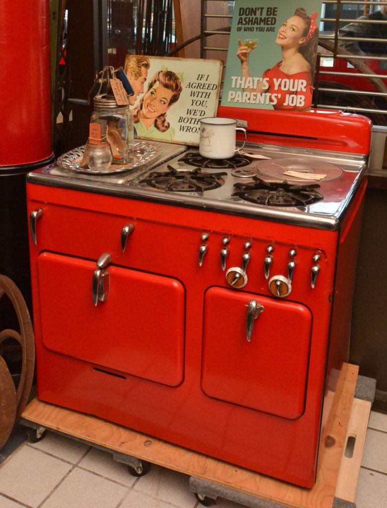 A vintage stove at Castle Architectural Salvage in Northampton.