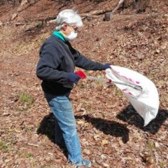 Residents opt for eco-friendly exercise by collecting litter during walks